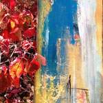 """Herbst am See 1"" 50x70 Mixed Media auf Leinwand, sold"