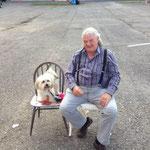 eine sehr nette Begegnung mit Hans und seinem herzigen Hund