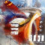 ohne Titel 5, 90x100 Collage auf Leinwand, Preis auf Anfrage