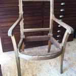 fauteuil empire brut