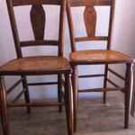 chaises cannées art déco
