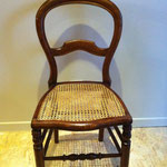 chaise Louis-Philippe cannée restaurée