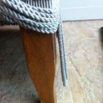 finition frange et pied vernis