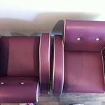 fauteuil club aprés tissu enduit