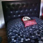 Tête de lit capitonnée tissu casal