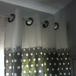 double-rideaux en lin tête oeillet