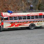 "Berühmter ""Chicken Bus"""