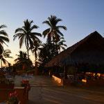 Sonnenuntergang auf der Dachterrasse des Flamingo Hotel