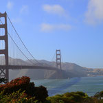 Golden Gate Brücke am späten Nachmittag