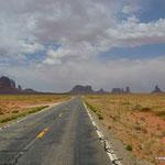 Anfahrt auf das Monument Valley