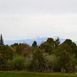 Blick vom Foy Lake - im Hintergrund die Manti La Sal-Berge