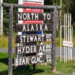 Abzweigung auf den Stewart-Cassier-Highway