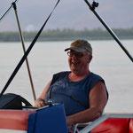 John ist glücklich...das Boot läuft wie geschmiert...