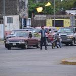 Entertainment an der Kreuzung in Tapachula