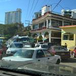 Typisches Verkehrschaos