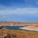 Erster Blick auf den Lake Powell