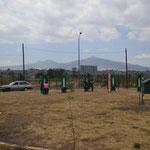 Mexikanisches Fitnessstudio mitten im Kreisel