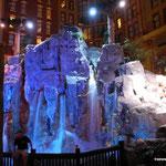 ...mit künstlichem Wasserfall