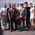 Antonio (Arturos Cousin), Nino, noch ein Mechaniker, Nobbi, ich, Johnny, Luis (macht seit 10 Jahren alles rund ums Haus), Dee, Arthur (v. l. n. r.)