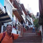 Steiler Aufstieg zur Statue von José Maria Morelos, einem Helden der mexikanischen Revolution
