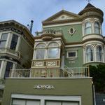 Typische viktorianische Häuser