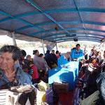 Boot auf die Insel Janitzio auf dem Lago Patzcuaro