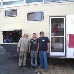 Johnny, Nino unser süsser Mechaniker und Arturo (v. l. n. r.)