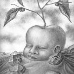 ouroboros  o los ultimos misterios del auto-nacimiento / A4 /  lápiz mec.