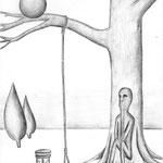 la ironia de la muerte / A4 /  lapíz