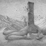 Reflexionen aus Sand / A4 /  mech. Bleistift