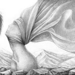 Bett aus Stein / A4 /  mech. Bleistift