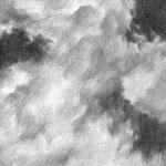 der Haupttempel  /   In den Himmel sehend fing es an und hörte es auf. Dazwischen ein hoffnungsvolles Streben.  / A5  /  mech. Bleistift
