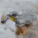 """de nada 3"" Collage auf Papier mit Rahmen 50 x 70cm € 320.-"