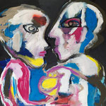 Der Kuss   92 x 84 cm Acryl auf Leinwand 2020   € 950 .-