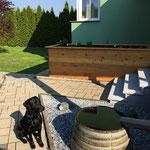 zu Hause im Garten