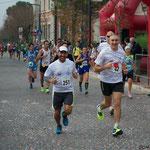 Federico Checco e Lorenzo dopo i primi km