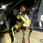 Rettungszylinder mit Spreitzer und Schwellenaufsatz, Airbagschutz