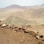 beim Aufstieg zum Mosesberg - ein Blick zurück 2