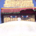 Buddhas Augen - sie sehen und wissen alles
