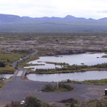 Ausblick auf Island zwischen den Kontinentalplatten