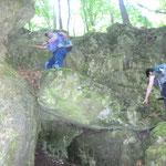 erste Kletterei