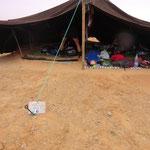 übernachtet wird im Berberzelt