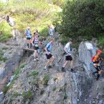 Vorsicht im Downhill
