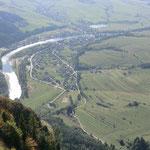 der Dunajec, Grenzfluss von Polen und der Slowakei