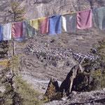 Blick von Annapurna View Point auf Manang