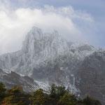 endlich wieder eine sichtbare Bergspitze