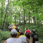 Anstieg beim Rheinsteig Extremlauf