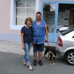 Hanna und Bernd, bei denen ich mein Auto parken konnte