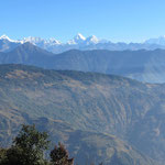 Ausblick auf den hohen Himalaya