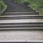 viele Treppen müssen erklommen werden